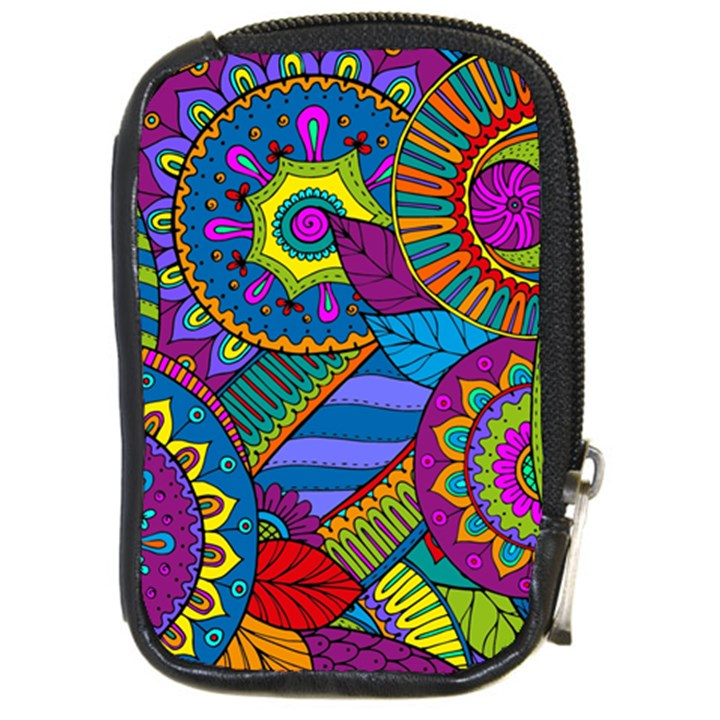 Pop Art Paisley Flowers Ornaments Multicolored Compact Camera Cases