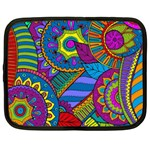 Pop Art Paisley Flowers Ornaments Multicolored Netbook Case (XXL)  Front