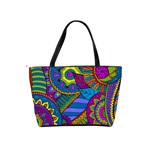 Pop Art Paisley Flowers Ornaments Multicolored Shoulder Handbags Back