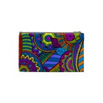 Pop Art Paisley Flowers Ornaments Multicolored Cosmetic Bag (Small)  Back