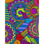 Pop Art Paisley Flowers Ornaments Multicolored Large Memo Pads 4.125 x5.5  Memopad