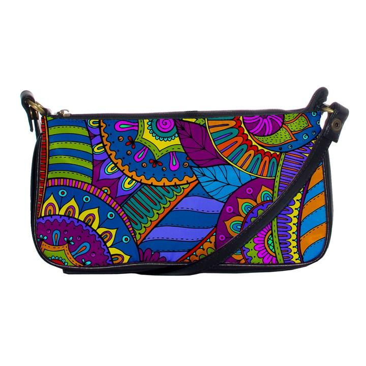Pop Art Paisley Flowers Ornaments Multicolored Shoulder Clutch Bags