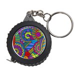 Pop Art Paisley Flowers Ornaments Multicolored Measuring Tapes Front