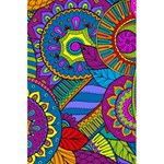 Pop Art Paisley Flowers Ornaments Multicolored 5.5  x 8.5  Notebooks Back Cover