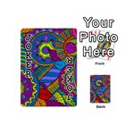 Pop Art Paisley Flowers Ornaments Multicolored Playing Cards 54 (Mini)  Front - Joker1