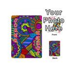 Pop Art Paisley Flowers Ornaments Multicolored Playing Cards 54 (Mini)  Front - Joker2