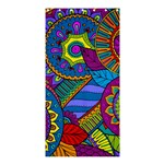 Pop Art Paisley Flowers Ornaments Multicolored Shower Curtain 36  x 72  (Stall)  33.26 x66.24 Curtain