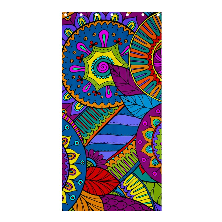 Pop Art Paisley Flowers Ornaments Multicolored Shower Curtain 36  x 72  (Stall)