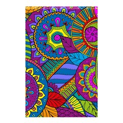 Pop Art Paisley Flowers Ornaments Multicolored Shower Curtain 48  x 72  (Small)