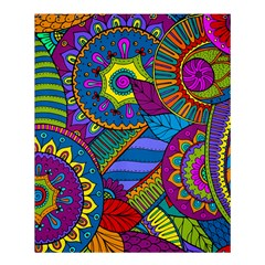 Pop Art Paisley Flowers Ornaments Multicolored Shower Curtain 60  X 72  (medium)