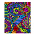 Pop Art Paisley Flowers Ornaments Multicolored Shower Curtain 60  x 72  (Medium)  54.25 x65.71 Curtain