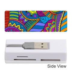 Pop Art Paisley Flowers Ornaments Multicolored Memory Card Reader (stick)