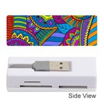 Pop Art Paisley Flowers Ornaments Multicolored Memory Card Reader (Stick)  Front