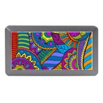Pop Art Paisley Flowers Ornaments Multicolored Memory Card Reader (Mini) Front