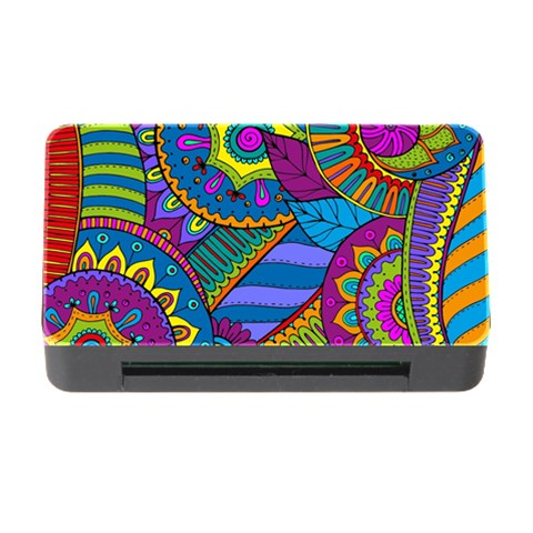 Pop Art Paisley Flowers Ornaments Multicolored Memory Card Reader with CF
