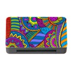 Pop Art Paisley Flowers Ornaments Multicolored Memory Card Reader with CF Front