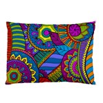 Pop Art Paisley Flowers Ornaments Multicolored Pillow Case (Two Sides) Back