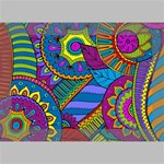 Pop Art Paisley Flowers Ornaments Multicolored Deluxe Canvas 18  x 12   18  x 12  x 1.5  Stretched Canvas