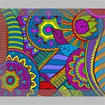 Pop Art Paisley Flowers Ornaments Multicolored Deluxe Canvas 20  x 16   20  x 16  x 1.5  Stretched Canvas