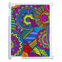 Pop Art Paisley Flowers Ornaments Multicolored Apple Ipad 2 Case (white)