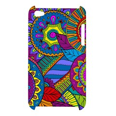 Pop Art Paisley Flowers Ornaments Multicolored Apple iPod Touch 4