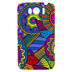Pop Art Paisley Flowers Ornaments Multicolored HTC Sensation XL Hardshell Case
