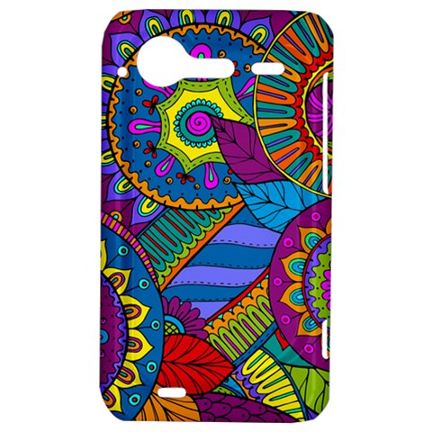 Pop Art Paisley Flowers Ornaments Multicolored HTC Incredible S Hardshell Case