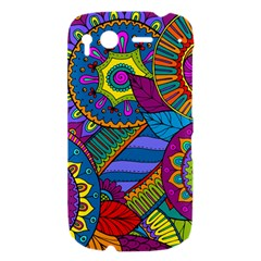 Pop Art Paisley Flowers Ornaments Multicolored HTC Desire S Hardshell Case