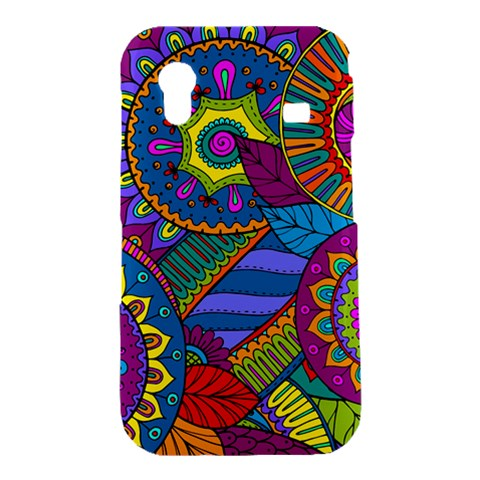 Pop Art Paisley Flowers Ornaments Multicolored Samsung Galaxy Ace S5830 Hardshell Case