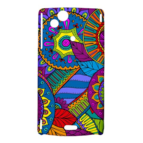 Pop Art Paisley Flowers Ornaments Multicolored Sony Xperia Arc