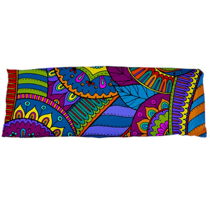 Pop Art Paisley Flowers Ornaments Multicolored Body Pillow Case Dakimakura (Two Sides)
