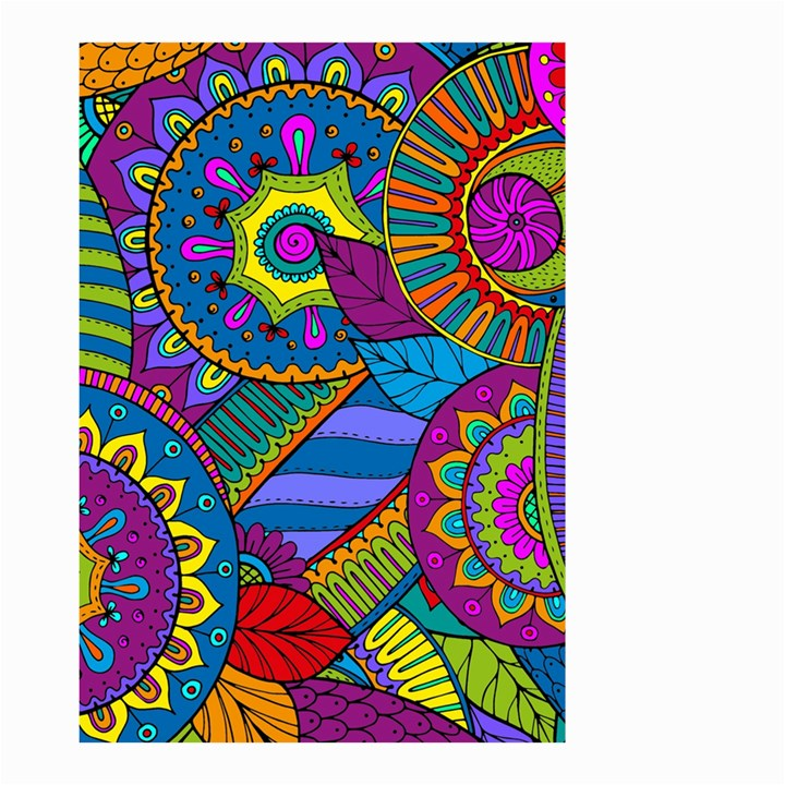 Pop Art Paisley Flowers Ornaments Multicolored Small Garden Flag (Two Sides)