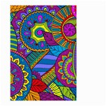Pop Art Paisley Flowers Ornaments Multicolored Small Garden Flag (Two Sides) Back