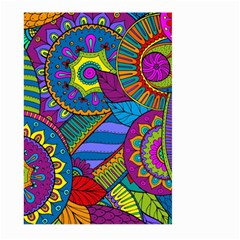 Pop Art Paisley Flowers Ornaments Multicolored Large Garden Flag (two Sides)