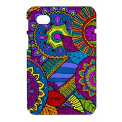 Pop Art Paisley Flowers Ornaments Multicolored Samsung Galaxy Tab 7  P1000 Hardshell Case