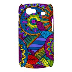 Pop Art Paisley Flowers Ornaments Multicolored Samsung Galaxy Nexus S i9020 Hardshell Case