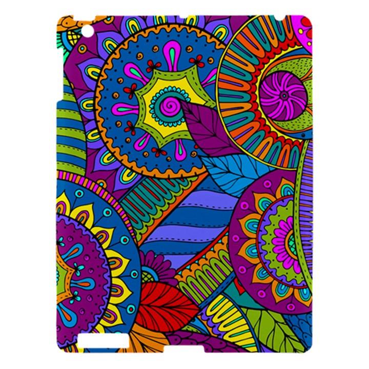 Pop Art Paisley Flowers Ornaments Multicolored Apple iPad 3/4 Hardshell Case