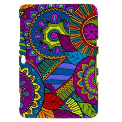 Pop Art Paisley Flowers Ornaments Multicolored Samsung Galaxy Tab 8.9  P7300 Hardshell Case