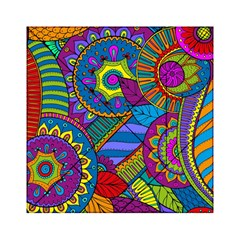 Pop Art Paisley Flowers Ornaments Multicolored Acrylic Tangram Puzzle (6  x 6 )