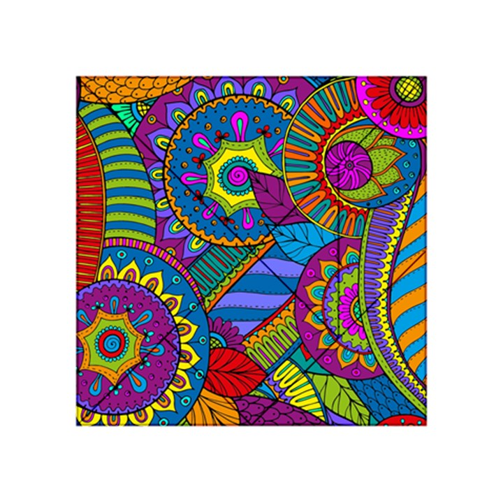 Pop Art Paisley Flowers Ornaments Multicolored Acrylic Tangram Puzzle (4  x 4 )