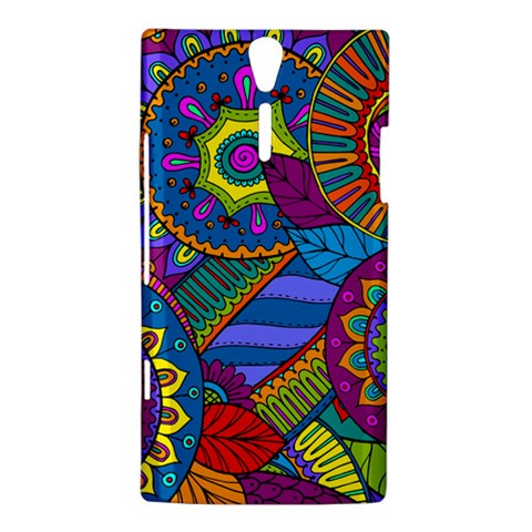 Pop Art Paisley Flowers Ornaments Multicolored Sony Xperia S