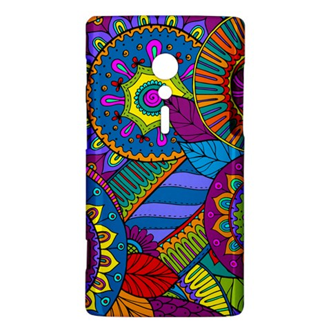 Pop Art Paisley Flowers Ornaments Multicolored Sony Xperia ion