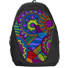 Pop Art Paisley Flowers Ornaments Multicolored Backpack Bag