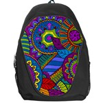 Pop Art Paisley Flowers Ornaments Multicolored Backpack Bag Front