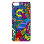 Pop Art Paisley Flowers Ornaments Multicolored Apple iPhone 5 Seamless Case (White) Front