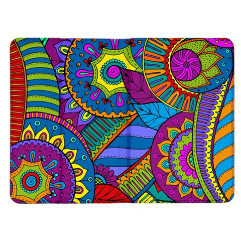 Pop Art Paisley Flowers Ornaments Multicolored Kindle Fire (1st Gen) Flip Case