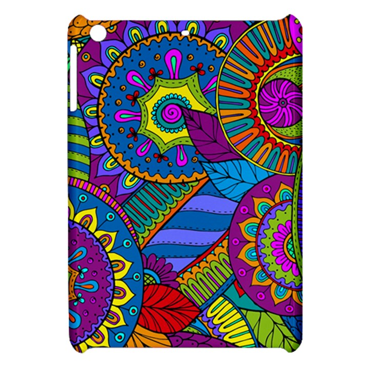 Pop Art Paisley Flowers Ornaments Multicolored Apple iPad Mini Hardshell Case