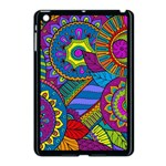 Pop Art Paisley Flowers Ornaments Multicolored Apple iPad Mini Case (Black) Front