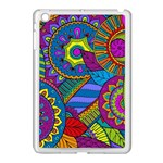 Pop Art Paisley Flowers Ornaments Multicolored Apple iPad Mini Case (White) Front