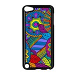 Pop Art Paisley Flowers Ornaments Multicolored Apple iPod Touch 5 Case (Black) Front